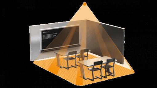 Įleidžiamas į lubas būvio jutiklis mažoms patalpom IR QUATTRO COM1AP
