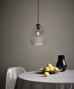 Pakabinamas šviestuvas su stiklo gaubtu Nordlux DILLON