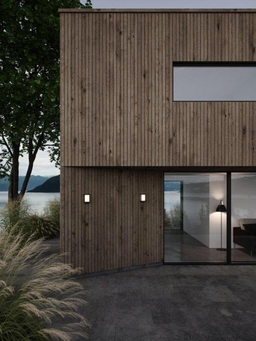 Sieninis lauko LED šviestuvas terasoms ir įėjimui apšviesti Nordlux NESTOR