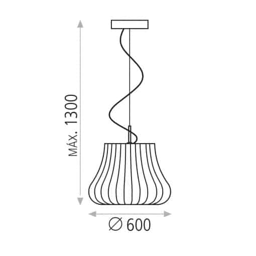 Modernus pakabinamas šviestuvas ACB NANOK 600