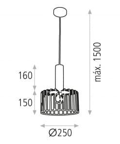 Modernus šviestuvas ACB ULAWA