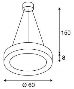 Pakabinamas šviestuvas SLV MEDO RING