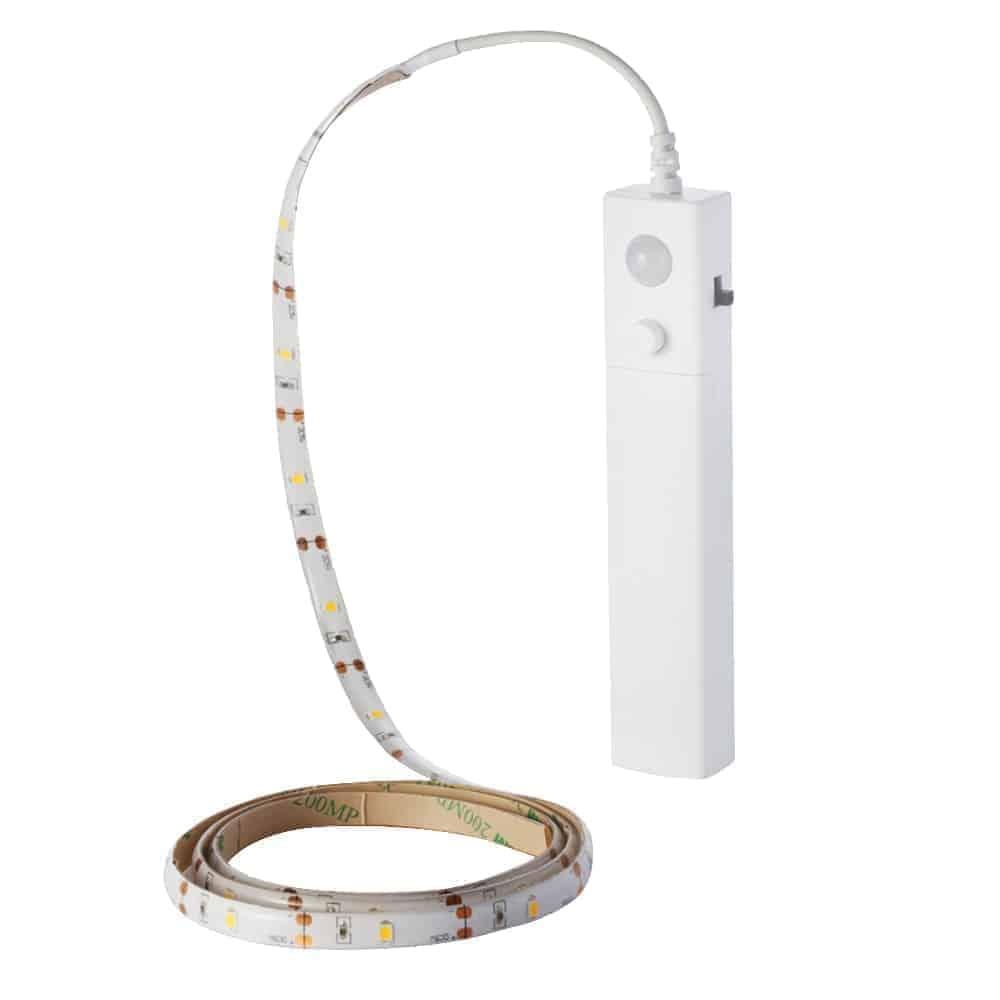 2.4W LED juostos su jutikliu 1m (4xAAA) komplektas