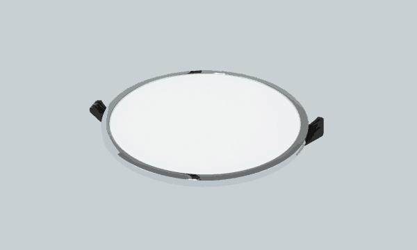 Atspari drėgmei LED panelė su juodo chromo spalvos rėmeliu