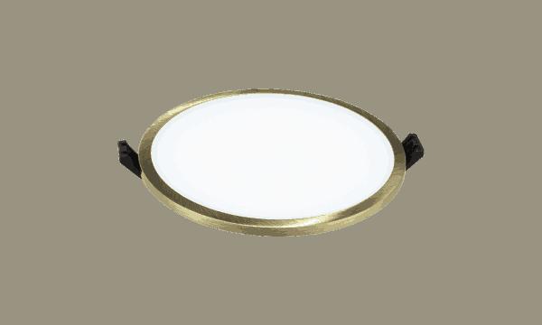 Atspari drėgmei LED panelė su bronzos spalvos rėmeliu