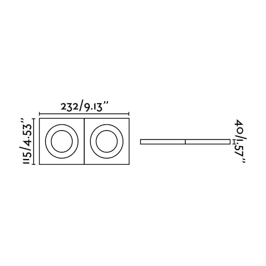 Dvigubas reguliuojamas įleidžiamas šviestuvas FARO ARGON2