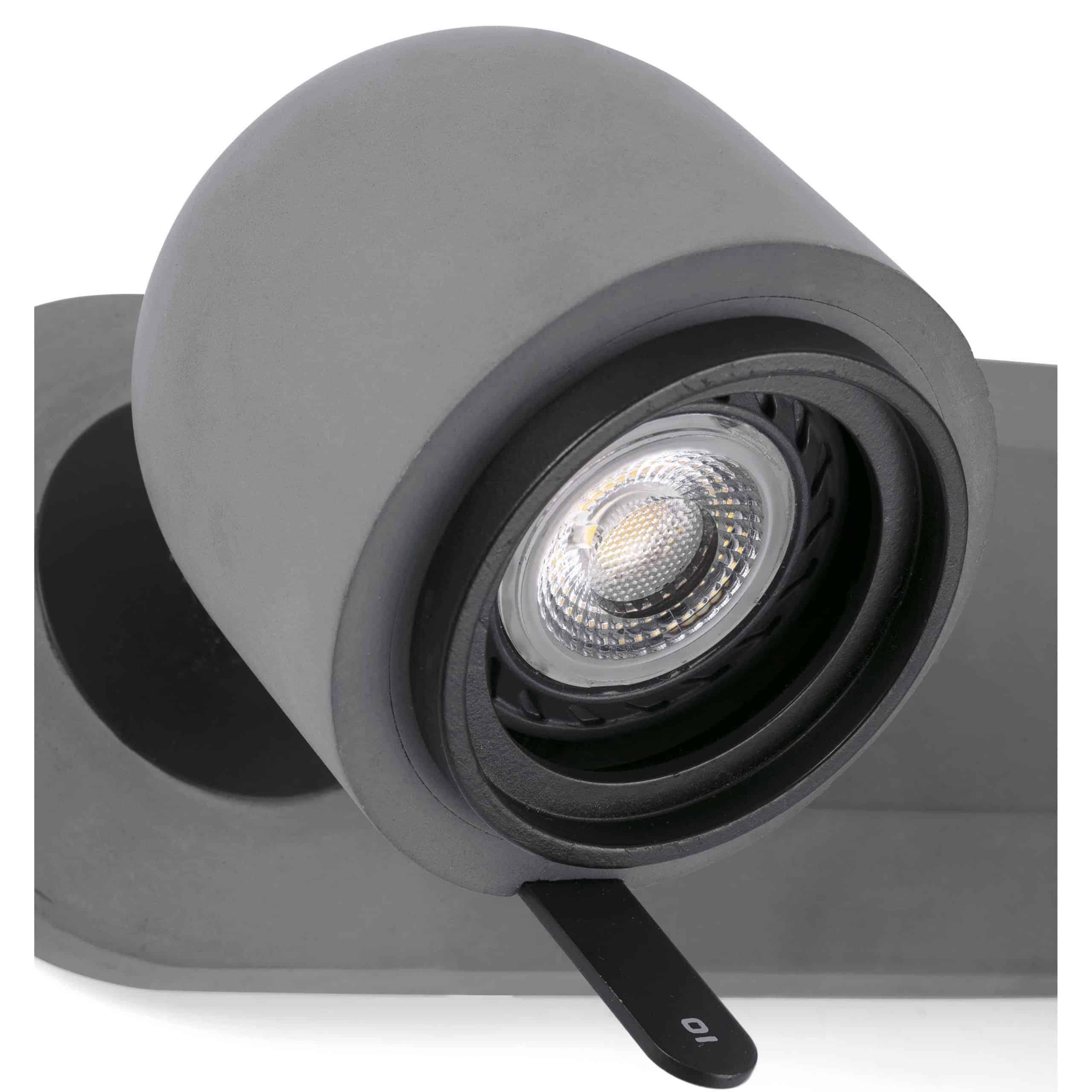 Pilkas sieninis šviestuvas FARO STONE2