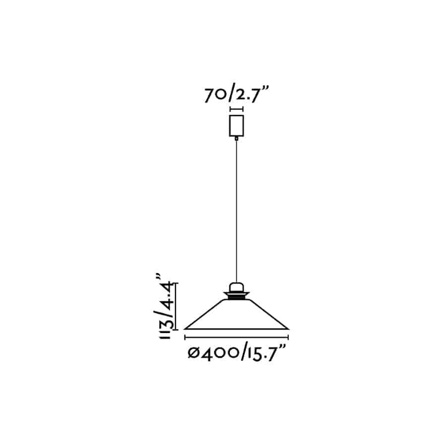 Modernaus dizaino šviestuvas FARO NAOS 400