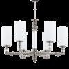 Modernaus klasikinio stiliaus sietynas su stiklo gaubtais KUETK MERANO 6