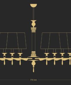 Sietynas su krištolo papuošimais KUTEK MERANO 8