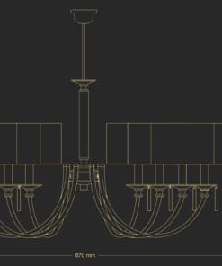 Modernaus klasikinio stiliaus sietynas KUTEK ZAVIO 8