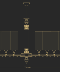 Sietynas su stiklo gaubtais KUETK MERANO 8