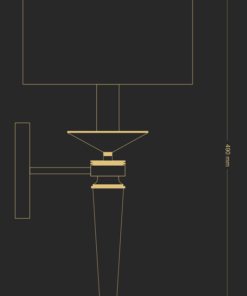 Blizgaus nikelio spalvos sieninis šviestuvas KUKEK ZOLA