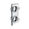 Modernus dvigubas kvadratinis šviestuvas GTV BRILLANTE