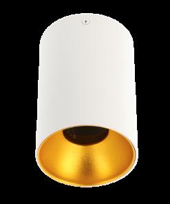 Apvalus šviestuvas su aukso spalvos reflektoriumi GTV TENSA