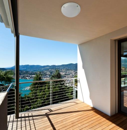 Lubinis šviestuvas balkonams ir terasoms FARO DAKRON