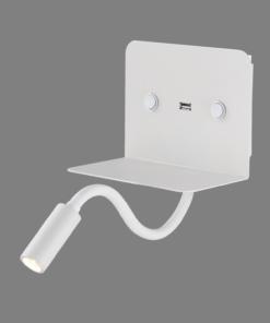 Sieninis šviestuvas su USB krovikliu ACB CALMA