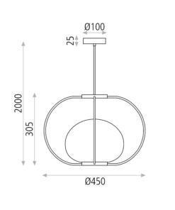 Modernus pakabinamas šviestuvas ACB MARINA