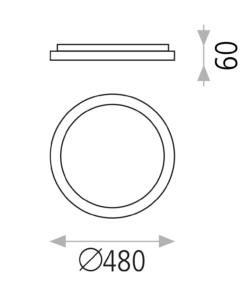 Minimalistinis lubinis šviestuvas ACB GRACE