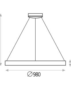 Minimalistinis pakabinamas šviestuvas ACB GRACE
