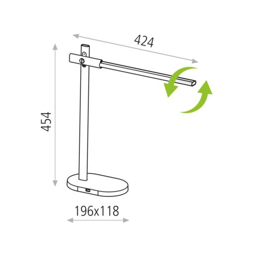 Modernus stalo šviestuvas su USB jungtimi ACB LAYSAN