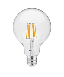 8W Filamentinė LED lemputė E27 GTV G95