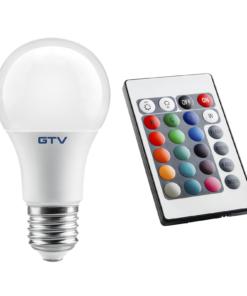 8W Matinė RGB lemputė E27 GTV A60