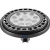 12W Juoda LED lemputė su šviesos siauru kritimo kampu GU10 GTV ES111