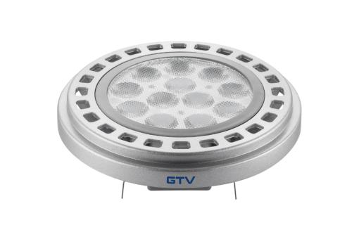 12W Sidabrinė LED lemputė su siauru šviesos kritimo kampu G53 GTV AR111