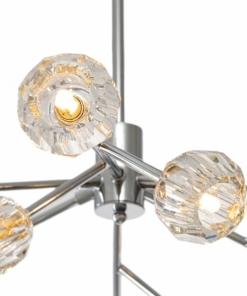 Šviestuvas su apvaliomis krištolo lemputėmis PALLERO APOLLO