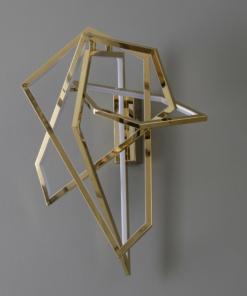 Aukso spalvos modernus svetainės šviestuvas PALLERO AZURE