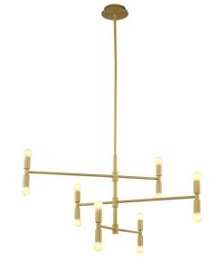 Modernus aukso spalvos sietynas PALLERO CAMPO CHANDELIER