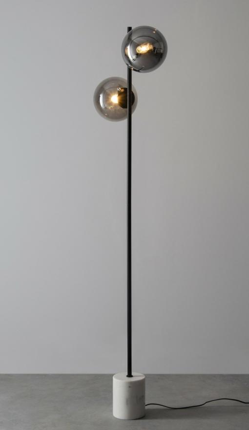 Modernus toršeras su chromo spalvos gaubteliais PALLERO MOMA