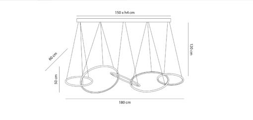 Modernus žiedo formos šviestuvas PALLERO ODA