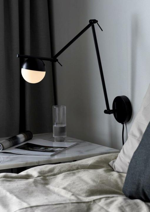 Sieninis šviestuvas su reguliuojama koja NORDLUX CONTINA