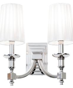 Sieninis šviestuvas su dviem baltais dirbtinio šilto gaubtais Endon DOMINA