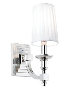 Sieninis šviestuvas su baltu dirbtinio šilko gaubtu Endon DOMINA