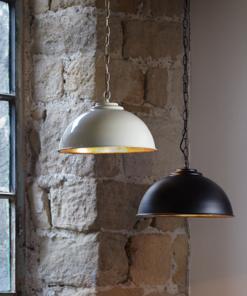 Pakabinamas šviestuvas su auksinės spalvos vidumi Endon COLMAN