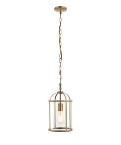 Pakabinamas šviestuvas su skaidraus stiklo gaubtu Endon LAMBETH