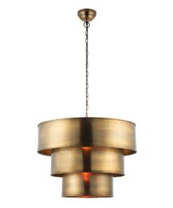 Pakabinamas sendinto žalvario spalvos šviestuvas Endon MORAD
