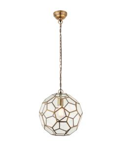 Pakabinamas šviestuvas su stikliniu geometrinių formų gaubtu Endon MIELE