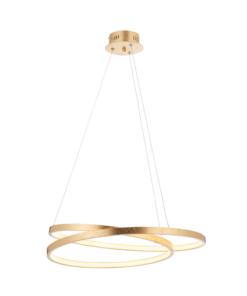 Pakabinamas auksinis žiedų formos šviestuvas Endon SCRIBBLE
