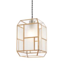 Pakabinamas modernus šviestuvas su žalvariu Endon CHATSWORTH