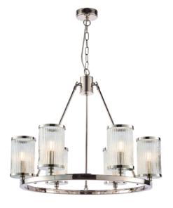 Pakabinamas šviestuvas su skaidriu briaunuotu stiklu Endon EASTON