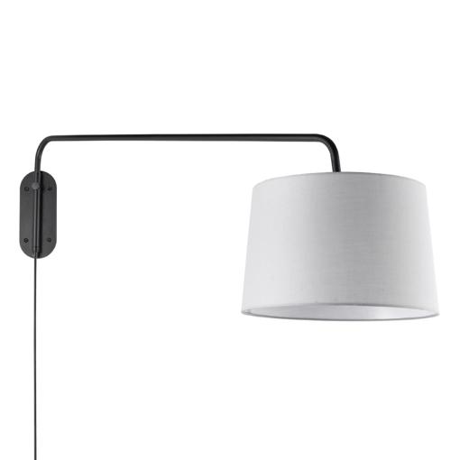 Reguliuojamas sieninis šviestuvas su šviesiai pilku gaubtu Endon Carlson