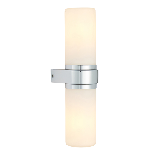 Sieninis dviejų lempučių balto stiklo šviestuvas Endon TAL