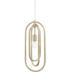 Pakabinamas šviestuvas su sendinta sidabrine apdaila Endon MEERA