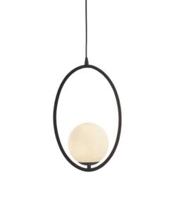 Pakabinamas ovalo formos šviestuvas su opaliniu stiklu Endon EDEN