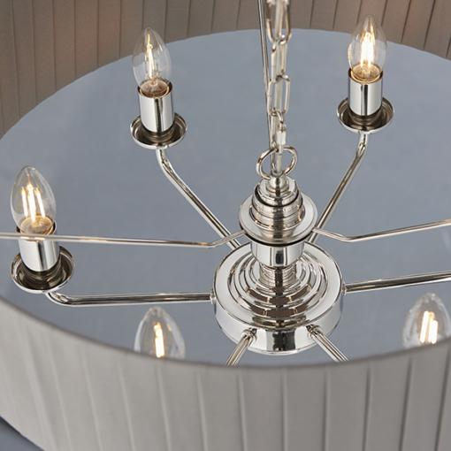 Pakabinamas šviestuvas su dirbtinio šilko gaubtu Endon HIGHCLERE