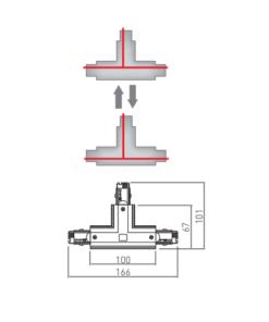 ReguliuojamaT formos jungtis 4 šerdžių bėgeliui GTV X-RAIL